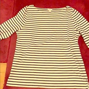 Boat neck J Crew striped long sleeve shirt